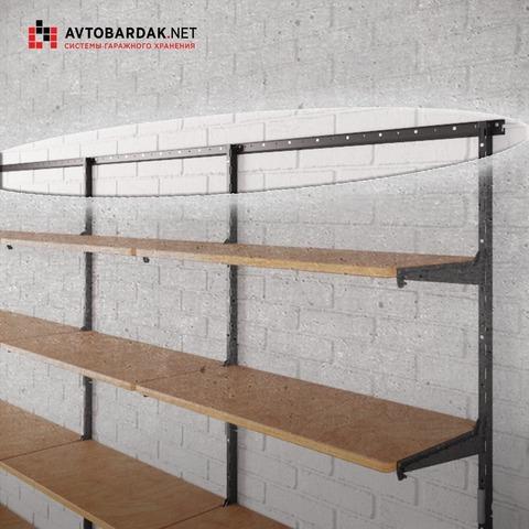 Горизонтальная рейка для модульной системы деревянных полок