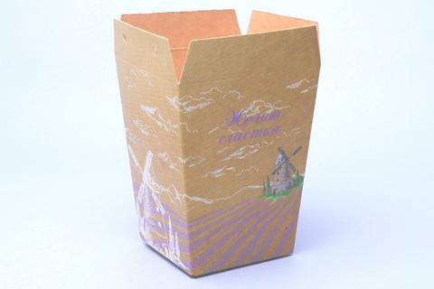 Коробка Трапеция  б/ручки Мельница 120/90