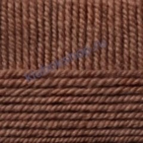 Пряжа Осенняя (Пехорка) цвет 416 светло-коричневый