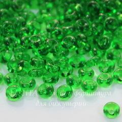 50120 Бисер Preciosa Дропс (Drops) 8/0 прозрачный зеленый