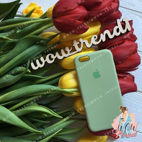 Чехол iPhone 6+/6s+ Silicone Case /mint gum/ фисташка 1:1