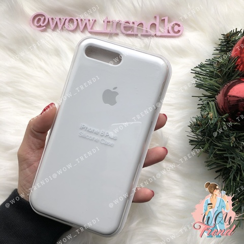 Чехол iPhone 7+/8+ Silicone Case /white/ белый 1:1
