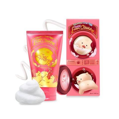 Пенка для умывания ELIZAVECCA Clean Piggy Pink Energy Foam Cleansing 120 мл.