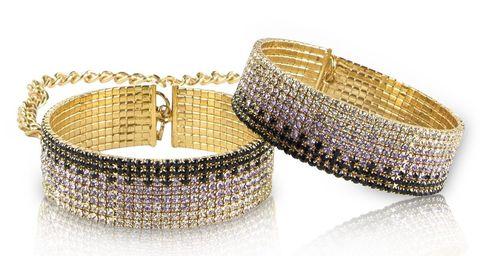 Золотистые наручники Diamond Handcuffs Liz