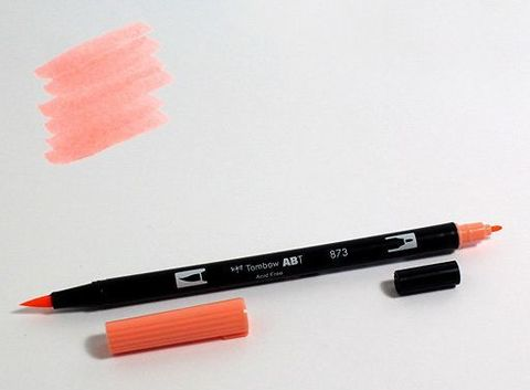 Маркер-кисть Tombow ABT Dual Brush Pen-873, коралловый