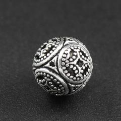 Бусина Азия 10 мм серебро