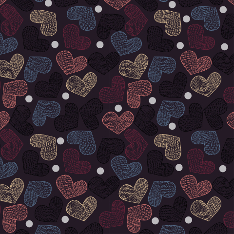 Сердца на черном фоне