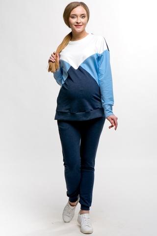 Спортивный костюм для беременных и кормящих 11500 синий