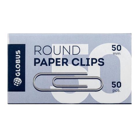 Скрепки Globus металлические 50 мм (50 штук в упаковке)