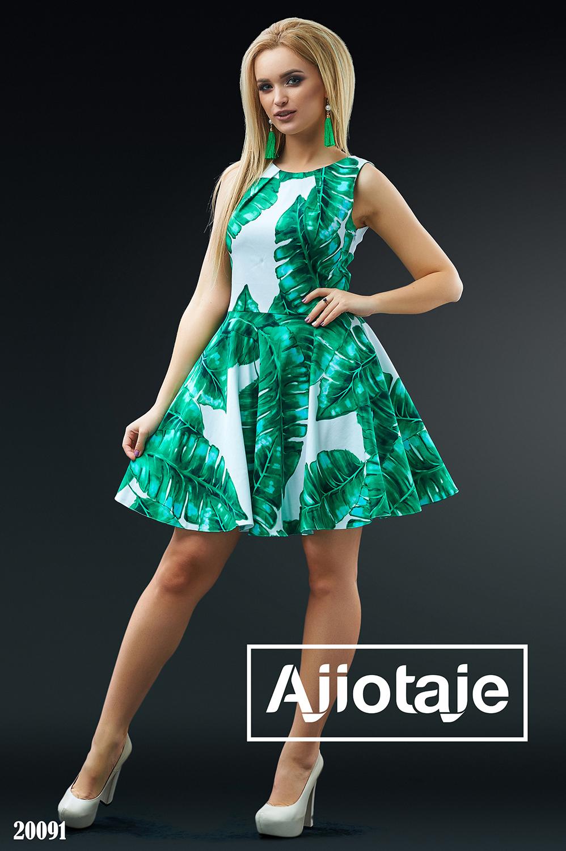 Хлопковое платье мини А-силуэта