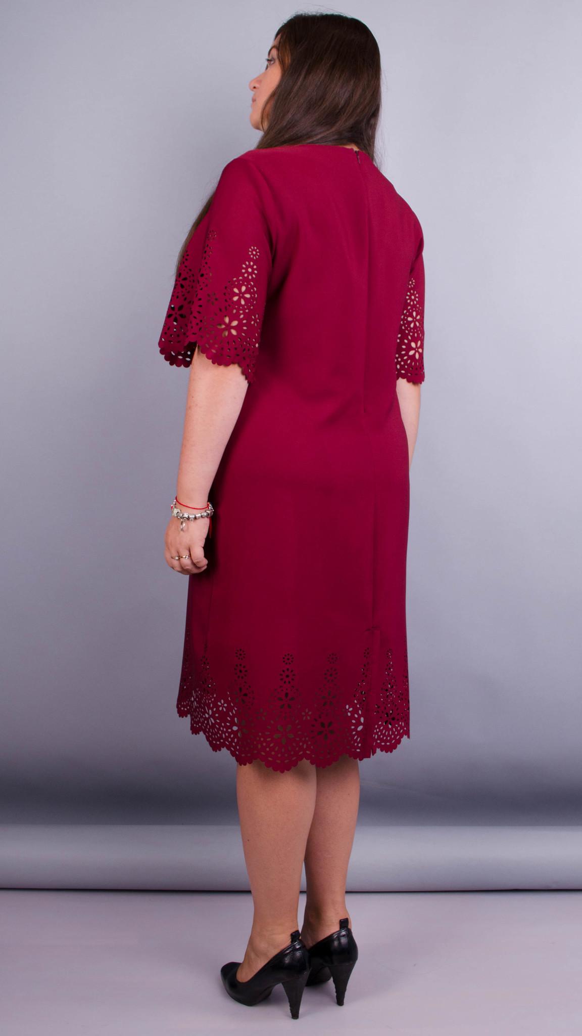 Платье Ажур (бордо)