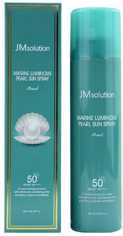 JMsolution Marine Luminous Pearl Sun Spray солнцезащитный спрей SPF50+ 180мл