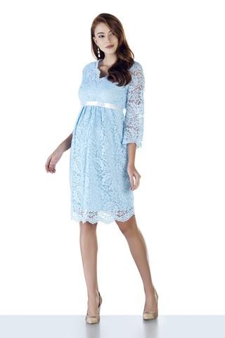 Платье для беременных 09028 голубой
