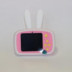 Фотоаппарат детский SmileZoom Зайчик с селфи-камерой / 20 Мп / Белый