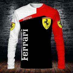 Толстовка 3D принт, Ferrari  (3Д Свитшот Феррари)
