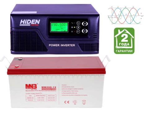 Комплект ИБП HIDEN CONTROL HPS20-0812+АКБ MNB MM 200-12