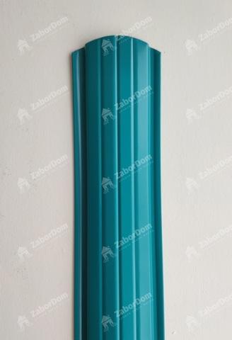 Евроштакетник металлический 110 мм RAL 5021 полукруглый 0.5 мм