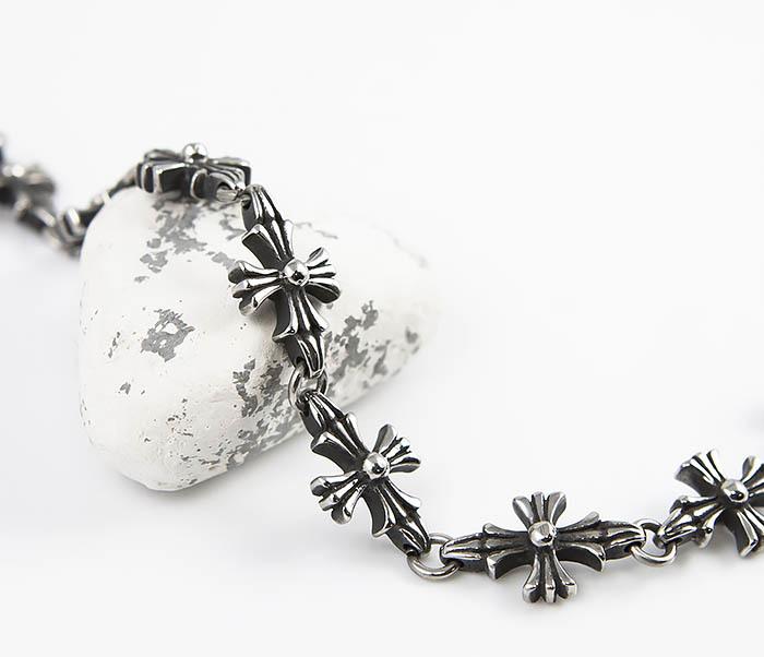BM528 Оригинальный браслет из стальных крестов (18,5 см) фото 03