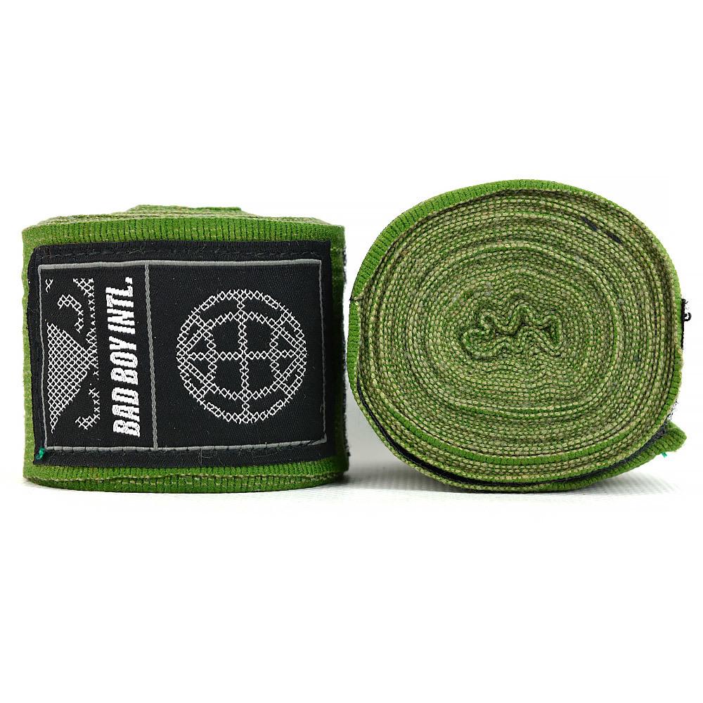 Капы и бинты Бинты Bad Boy Combat Premium Hand Wraps Green 5m 1.jpg