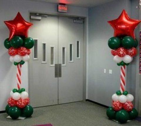 Колонна из шаров новогодняя