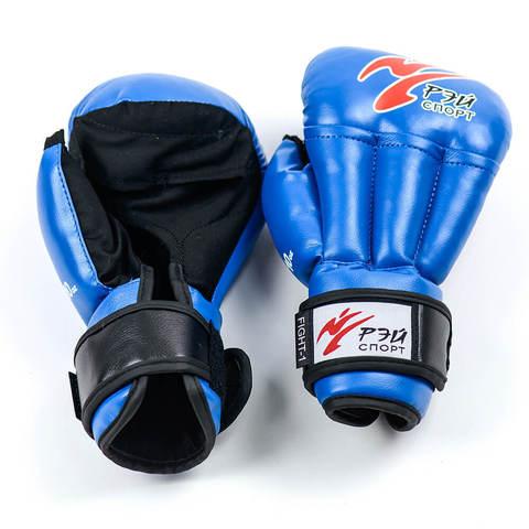 Перчатки для рукопашного боя Fight-1, 10oz, исккожа, р. M (цв.синий) С4ИХ10 (Рэй) (С4ИХ10 син)