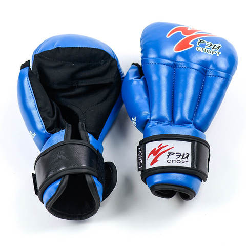 Перчатки для рукопашного боя Fight-1, 10oz, исккожа, р. M (цв.синий) С4ИХ10