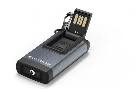 Фонарь-брелок светодиодный LED Lenser K4R серый, 120 лм, аккумулятор