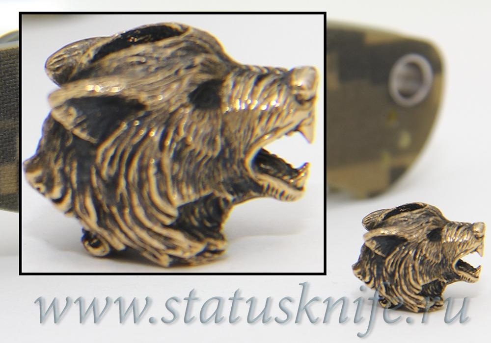 Темлячная бусина Серый Волк - фотография