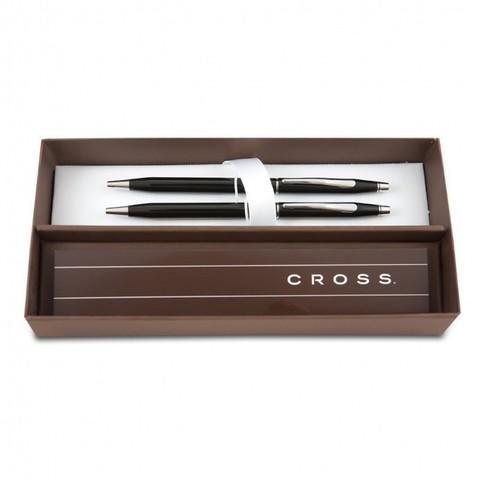 Набор подарочный Cross Century Classic - Black Lacquer CT, шариковая ручка + карандаш