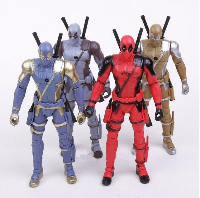 Фигурки Дэдпул в цветных костюмах — Deadpool in color costumes