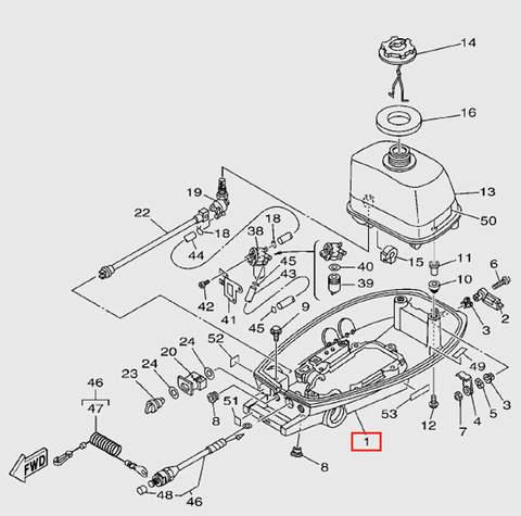Поддон двигателя в сборе  для лодочного мотора T5 Sea-PRO (7-1)