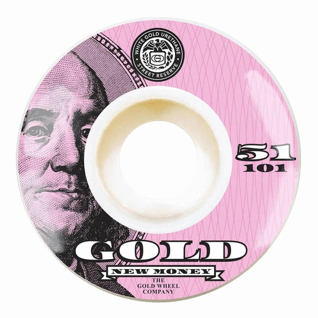 Колёса для скейтборда GOLD WHEELS New Money (Pink) 101A