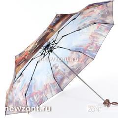 Женский зонт маленький легкий Lamberti старый Чикаго