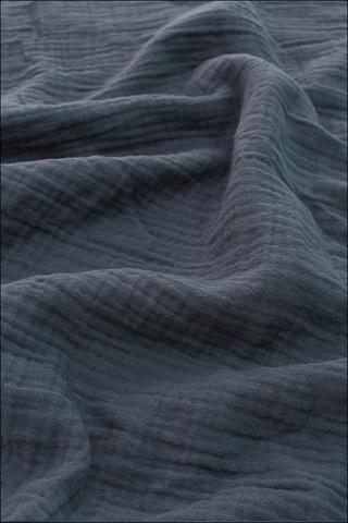Ткань муслиновая, дымчато-синий