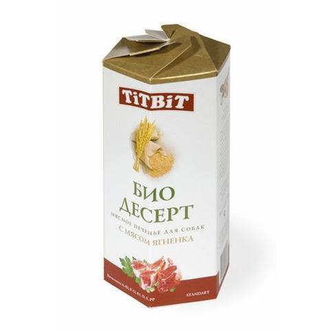 Titbit Био Десерт Лакомство для собак печенье с мясом ягненка стандарт