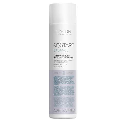 REVLON Restart Balance: Мицеллярный шампунь для кожи головы против перхоти и шелушений (Anti-dandruff Micellar Shampoo), 250мл/1л