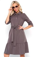<p>Модное платье свободного кроя для идеального базового гардероба. По низу изделия волан на сборке. Ворот отложной с планкой на пуговицах. Рукав ниже локтя. <span>Длины: ( 44-46р-101см,48-50р-102см,52-54р-103см).</span></p>