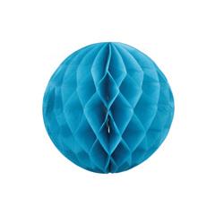 Бумажное украшение шар 20 см синий