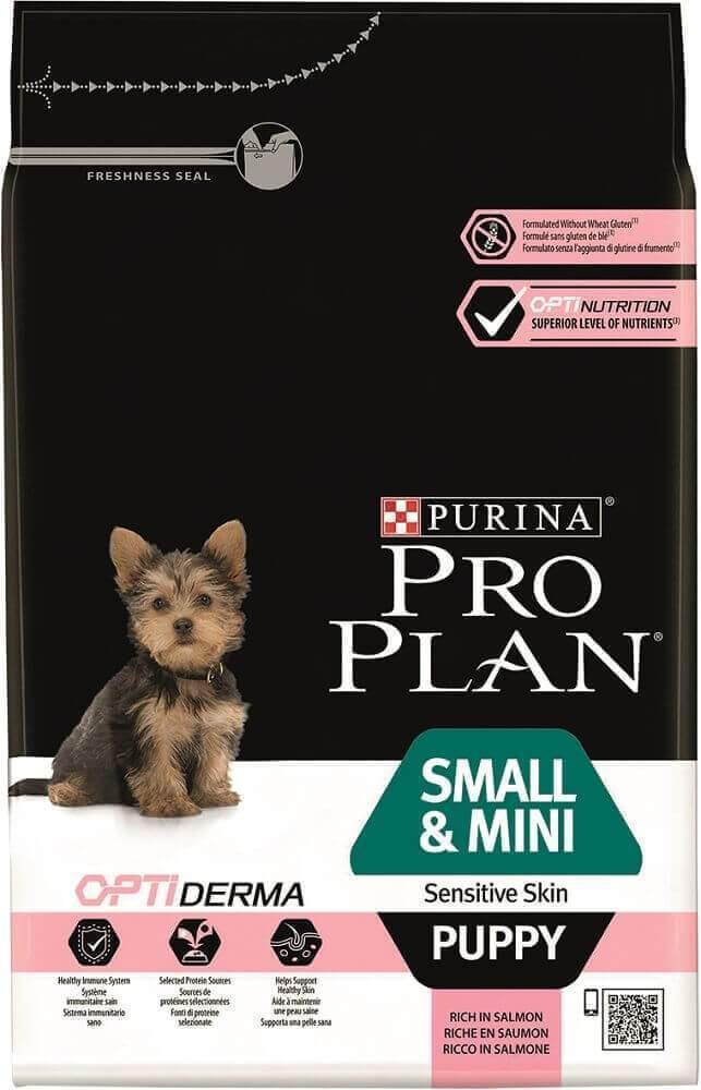 Сухой корм Сухой корм, Purina Pro Plan Dog, для щенков мелких и карликовых пород с чувствительной кожей, с лососем и рисом мини_щ_чув_к_лос.jpg