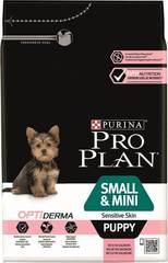 Сухой корм, Purina Pro Plan Dog, для щенков мелких и карликовых пород с чувствительной кожей, с лососем и рисом