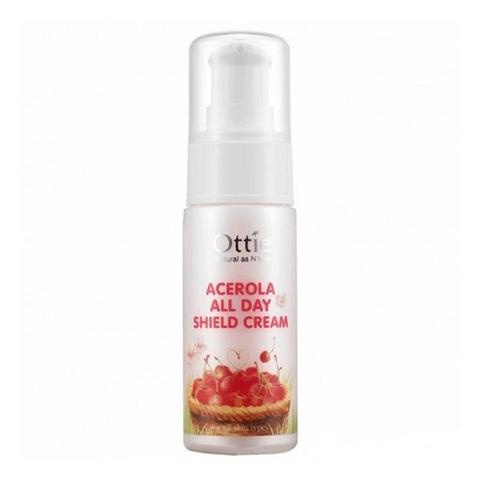 Ottie Acerola All Day Shield Cream крем защитный для тусклой и увядающей кожи с ацеролой
