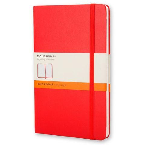 Блокнот Moleskine CLASSIC MM710R Pocket 90x140мм 192стр. линейка твердая обложка красный
