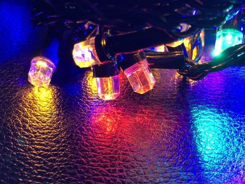 Штора-гірлянда Кришталь 256 LED E 2 на 1.5 м. кольорова