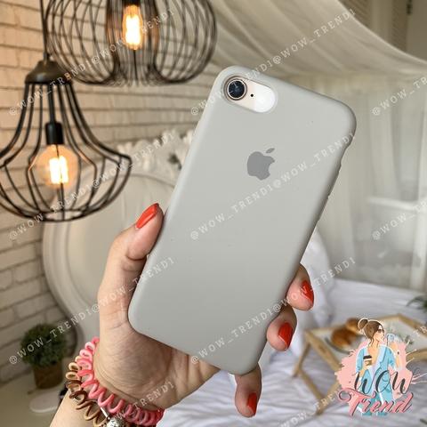 Чехол iPhone 7/8 Silicone Case /pebble/ ракушка original quality