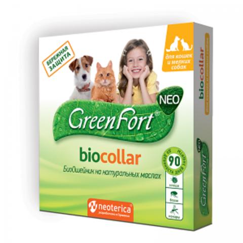 Грин Форт NEO БиоОшейник для кошек и мелких собак 40 см.