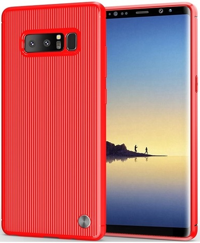 Чехол Samsung Galaxy Note 8  цвет Red (красный), серия Bevel, Caseport