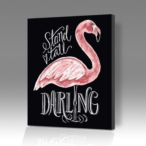 Картина по номерам на холсте Фламинго Darling, 40см*50см