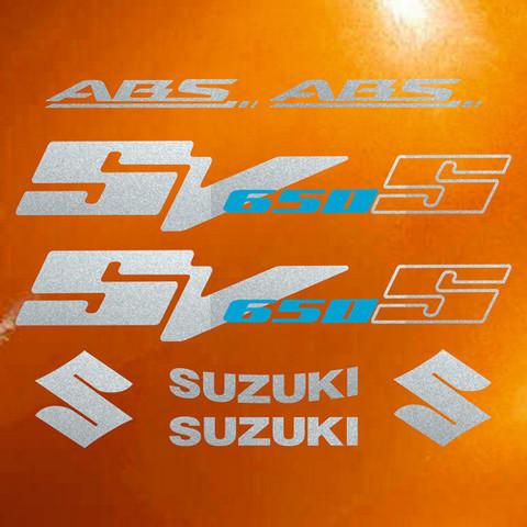 Набор виниловых наклеек на мотоцикл SUZUKI SV 650S 2010