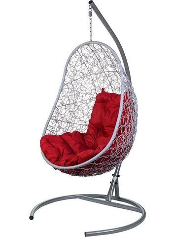 Кресло подвесное Ewerton Gray красная подушка