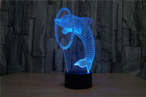 3D ночник Дельфин и кольцо